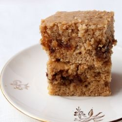 A Vegan Coffee Cake with 3 different kinds of nut flavors
