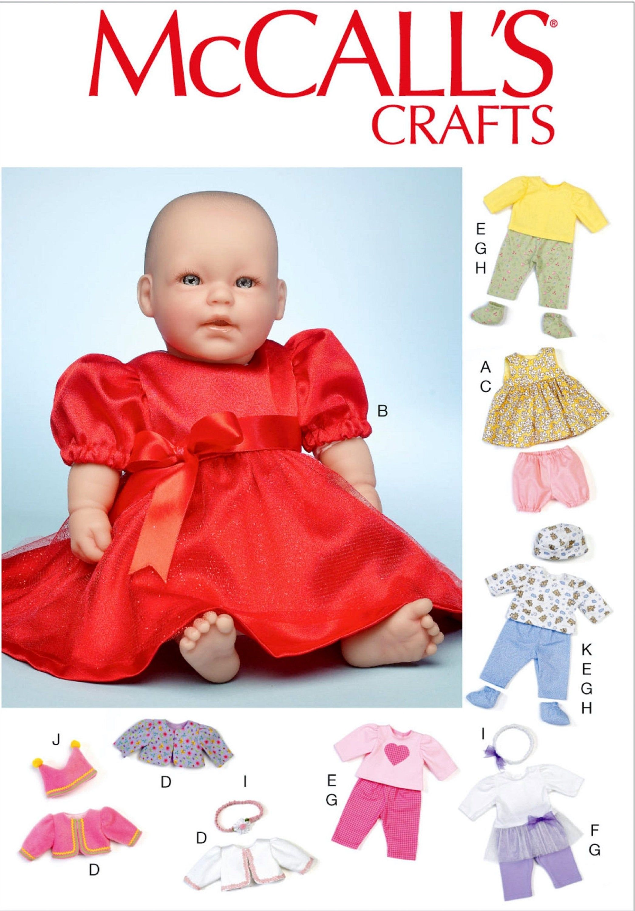Sewing Pattern Baby Doll Clothes Pattern Doll Baby Clothes Pattern 11 12 And 15 16 Inc In 2020 Baby Doll Clothes Patterns Baby Clothes Patterns Doll Clothes Patterns