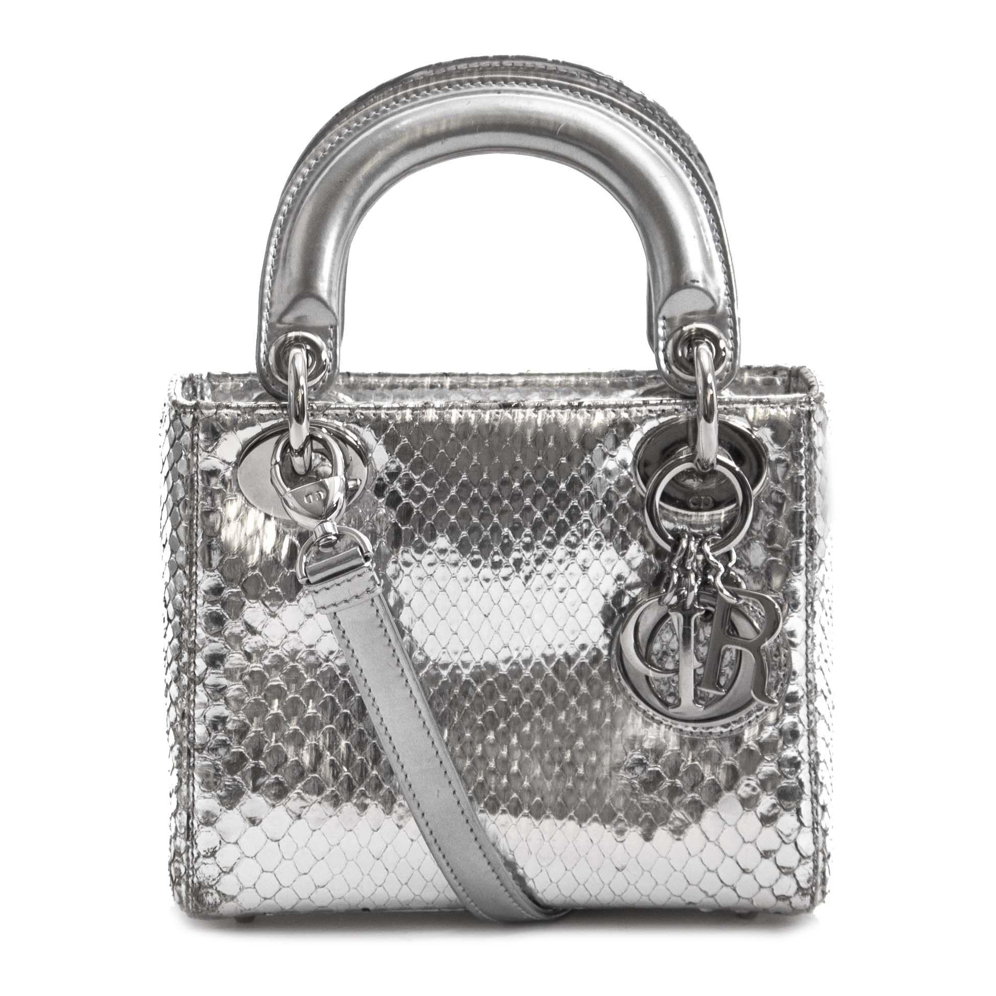 9d542ff19aabb3 Dior Silvery Python Mini Lady Dior Bag | Shop Labellov in 2019 ...