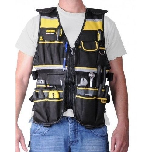 Fatmax Tool Vest Stanley Safety Builders Pockets Harness Plumber