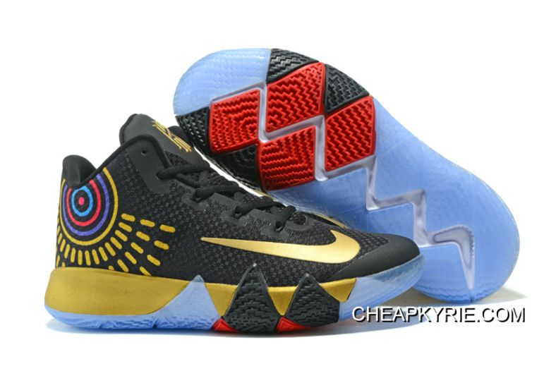 """huge discount 71c8c d3a4c Nike Kyrie 4 """"Black Gold""""Basketball Sneakers Super Deals, Price   80.74 - Cheap  Kyrie Shoes Online - Free Shipping"""