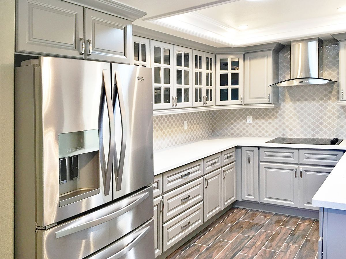 Anaheim grey rta kitchen cabinets ideas for the house