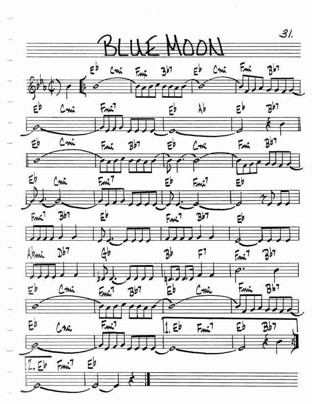 Blue Moon | Music in 2019 | Jazz sheet music, Jazz songs