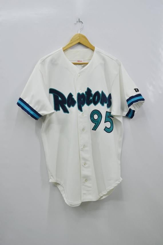 a8fb6436c9f RAPTORS Jersey Vintage Wilson Raptors #95 Made In USA Baseball Jersey Tee T  Shirt Size 44