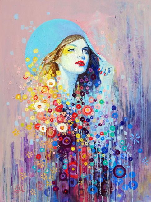 Emma Uber on imgfave... Drips of color and paint- perfect!