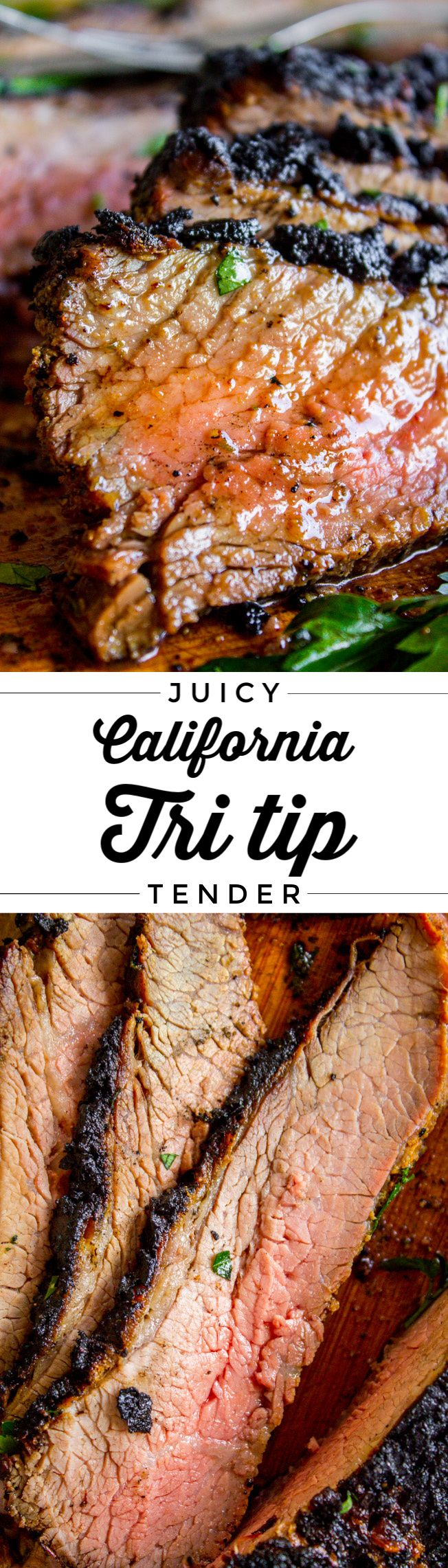 How to Cook Tri Tip (Grilled or Oven-Roasted) from The Food Charlatan. If you've never had tri tip,