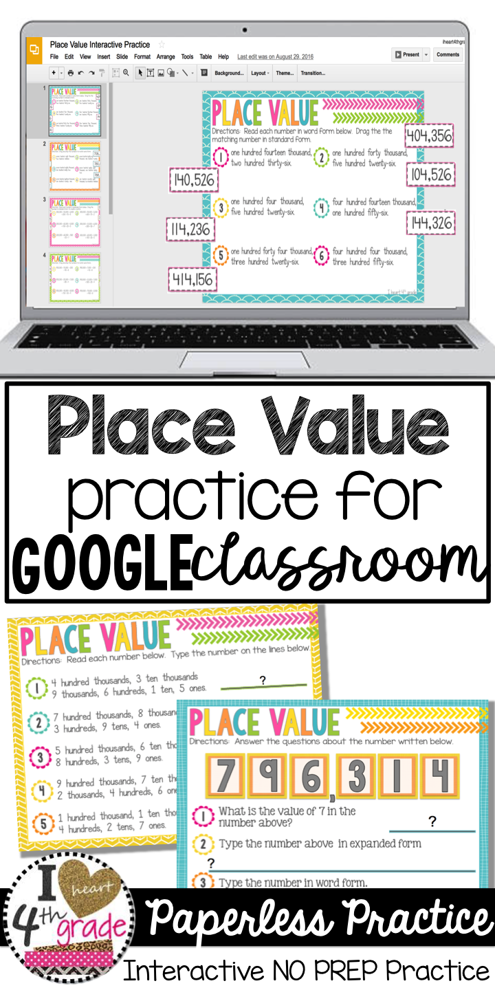 Place Value For Google Classroom Distance Learning Math Classroom Education Math Math Lessons [ 1440 x 720 Pixel ]