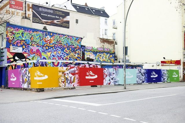 #Converse - Chuck Taylor All Star's recent #ad in German cities uses street art