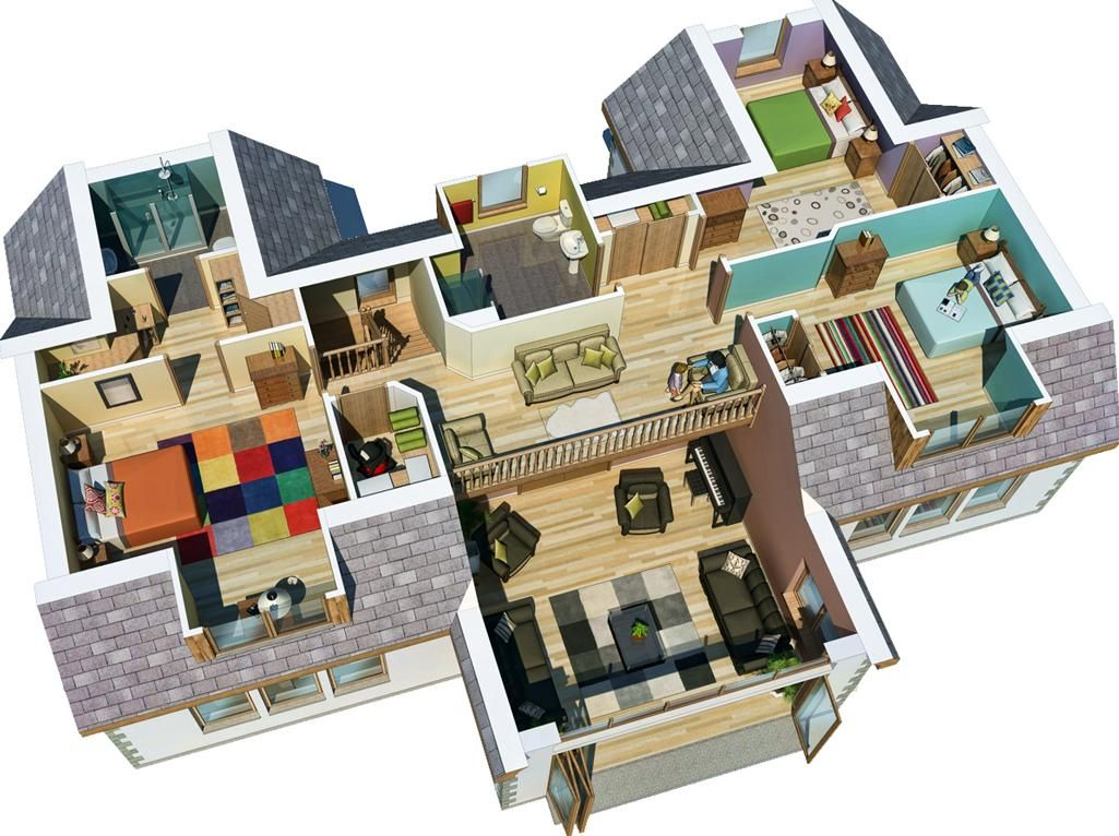 Home Architecture, Auskerry Large House 3d 3d Home Design With Autocad  Software 3d Floor Plan 1 Floor The Best Design Of House Plans Home Designs  With Best ...