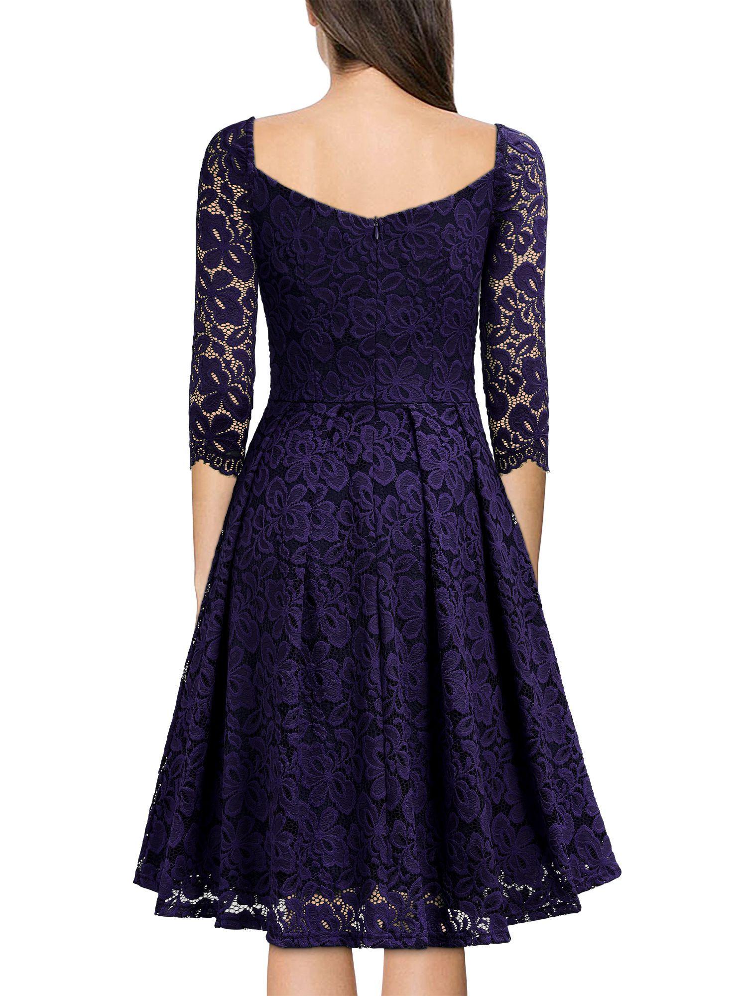 Women S Vintage Floral Lace Dresses Evening Cocktail Party 1950s Swing Dresses Navy Blue Xl Ad Lace 1950s Swing Dress Lace Party Dresses Floral Lace Dress [ 2000 x 1500 Pixel ]