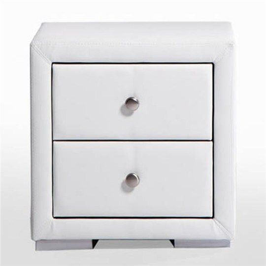 White leather bedside cabinets techieblogiefo eaka white pu leather night stand 49 5cm bedside tables watchthetrailerfo