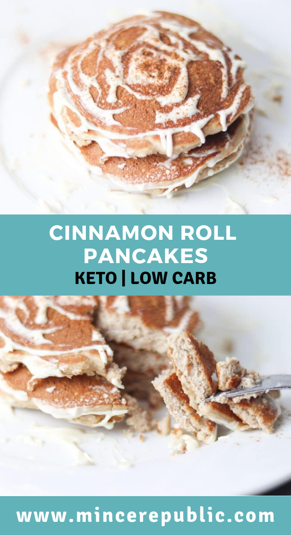 Keto Cinnamon Roll Pancakes Recipe