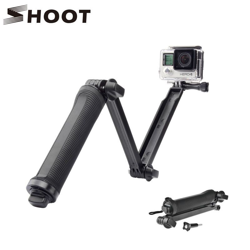 Shoot Universal Waterproof 3 Way Monopod Grip Extension Arm Tripod Mount For Gopro Hero 4 2 3 3 Sj4000 Xiaoyi Camera Accesories In Tripods From Máy ảnh Heroes