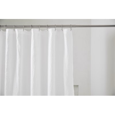 Coyuchi Linen Single Shower Curtain Vinyl Shower Curtains