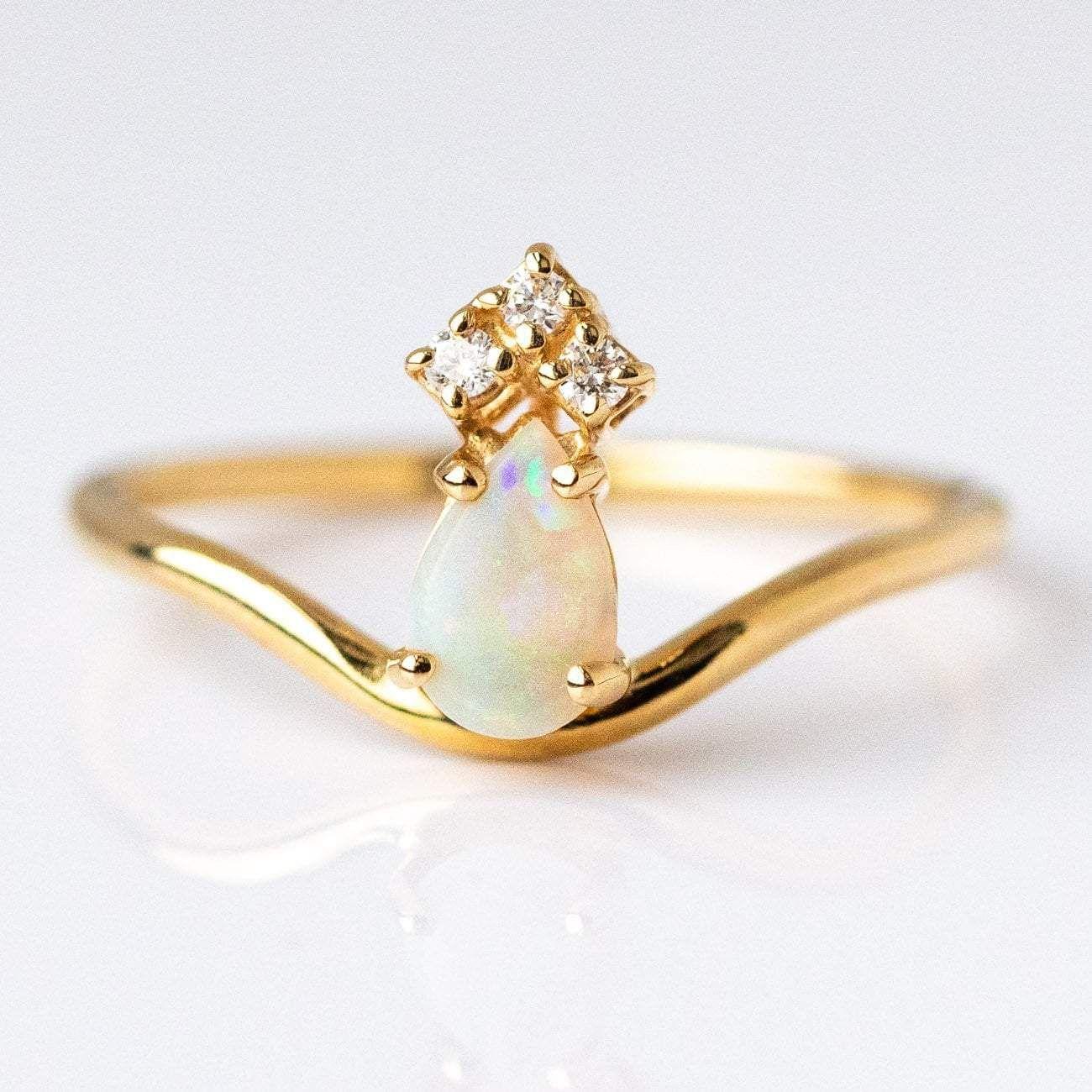 Opal & Diamond Crown Ring Diamond crown ring, Diamond