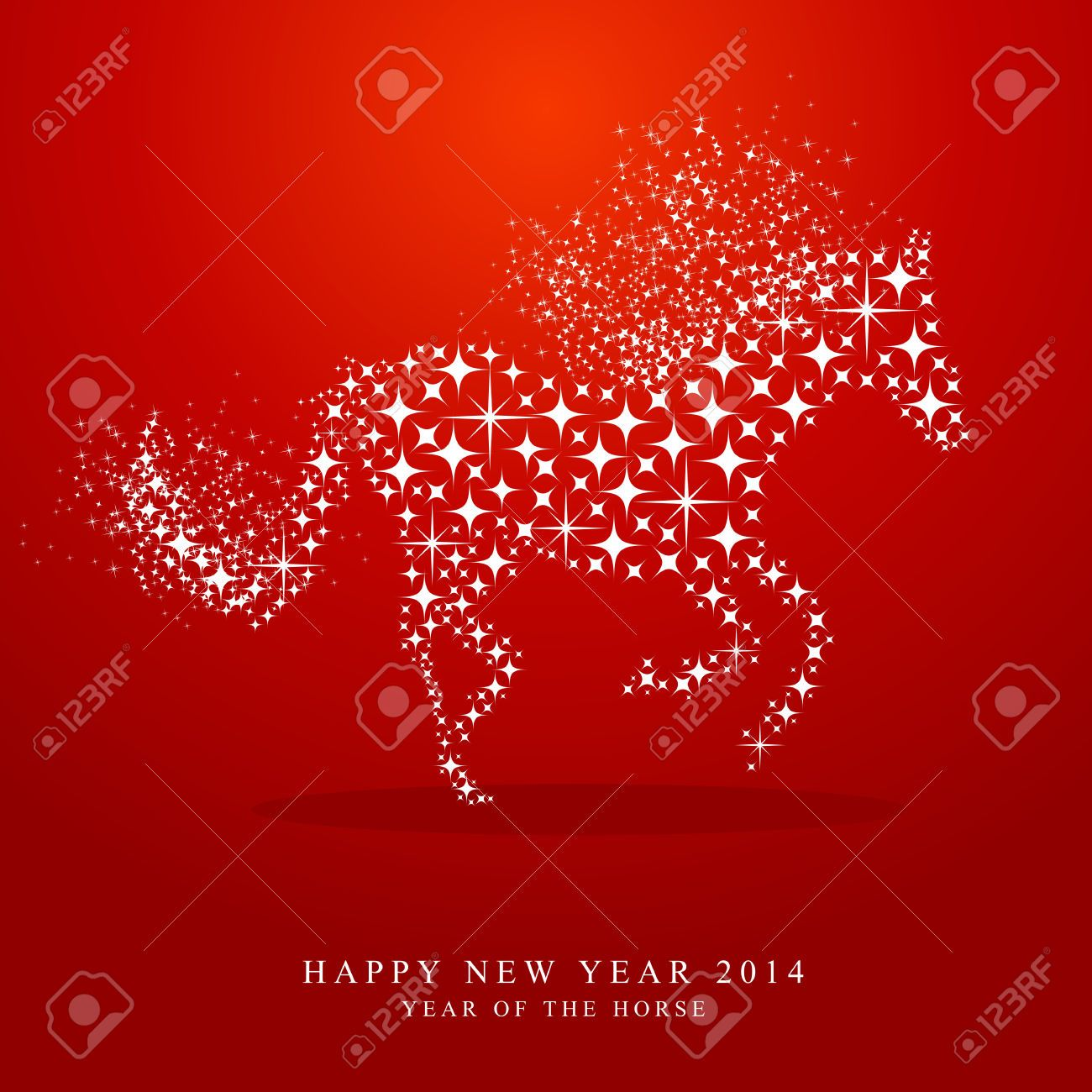 27552144 Happy Chinese New Year Of Horse 2014 Contemporary Star
