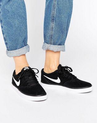 fbb976c7411c Nike SB Check Solar Sneakers In Black