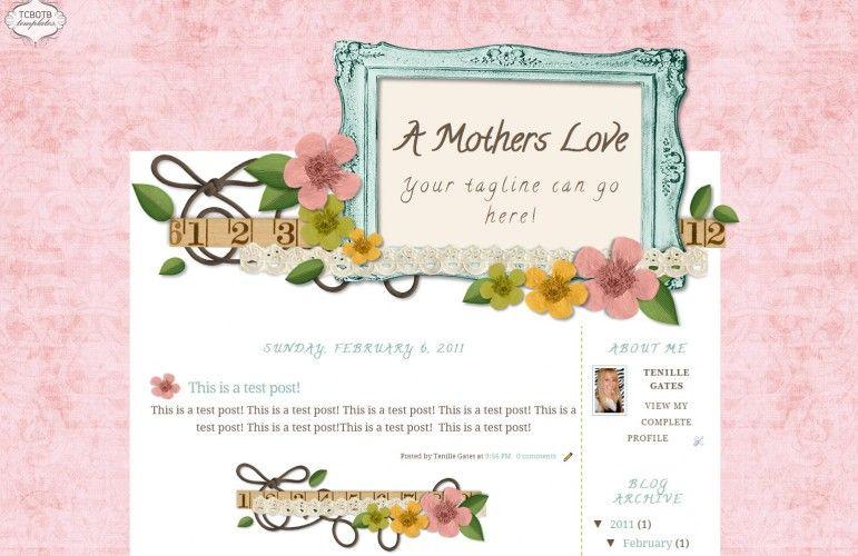 A Mothers Love 2 Column Template Blog ideas Pinterest - love templates free