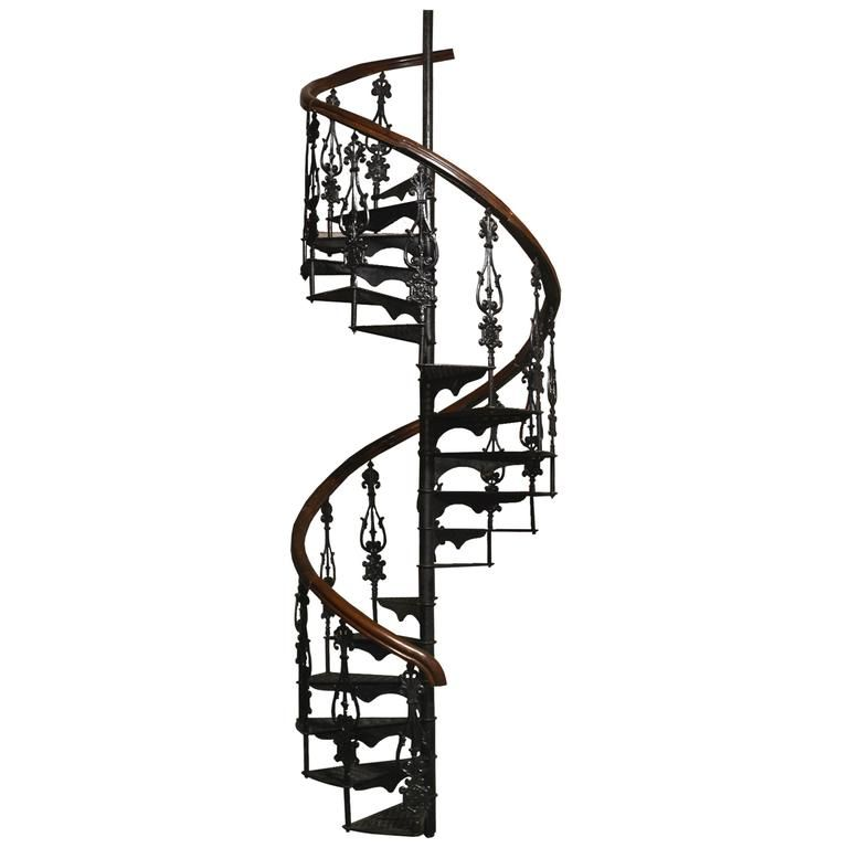 Best Antique Victorian Spiral Staircase Clockwise 1Stdibs Com 640 x 480