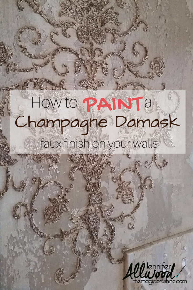 Diy Faux Painting wall & ceiling finishes | damasks, stenciling and champagne
