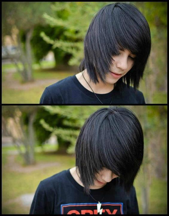 hot emo boy. hair
