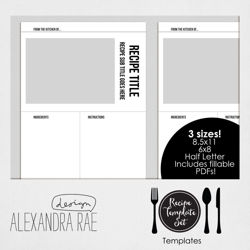 create your own cookbook template