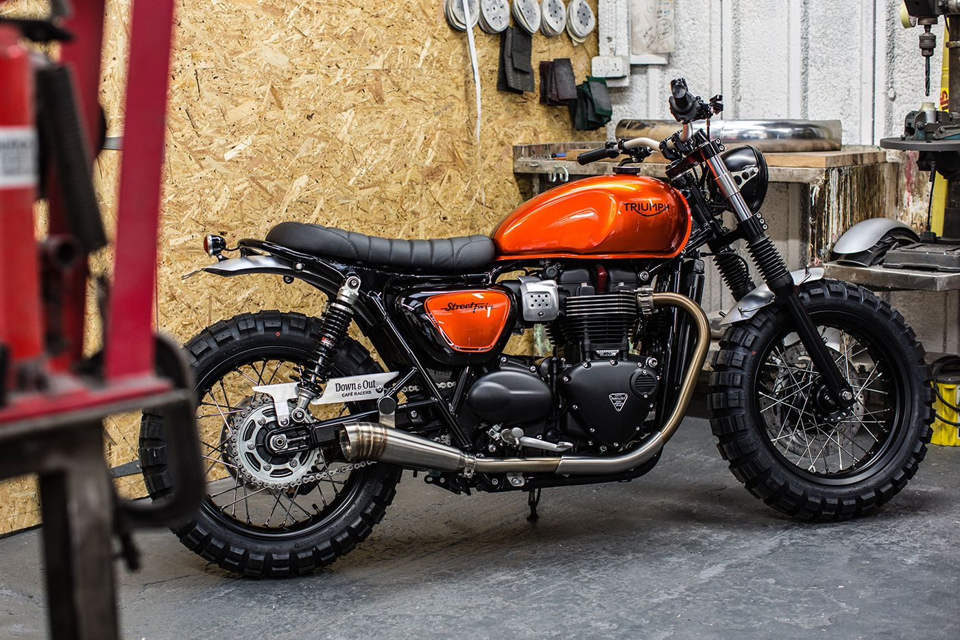 triumph street twin scrambler by down out bikes pinterest scrambler street and twin. Black Bedroom Furniture Sets. Home Design Ideas