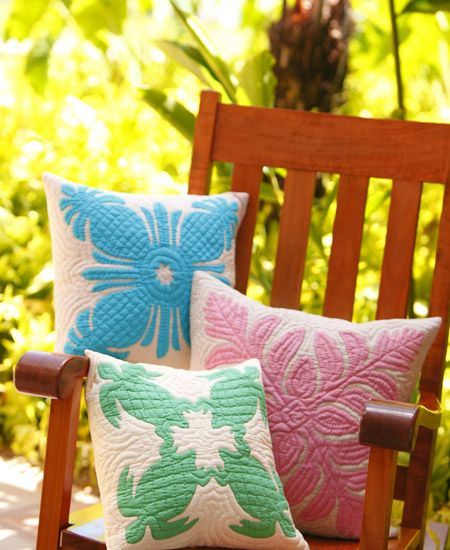 Turtle Quilted Pillows - From Collections of Waikiki, Hawaiian ... : hawaiian quilt pillows - Adamdwight.com