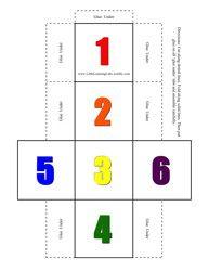 numbers dice set