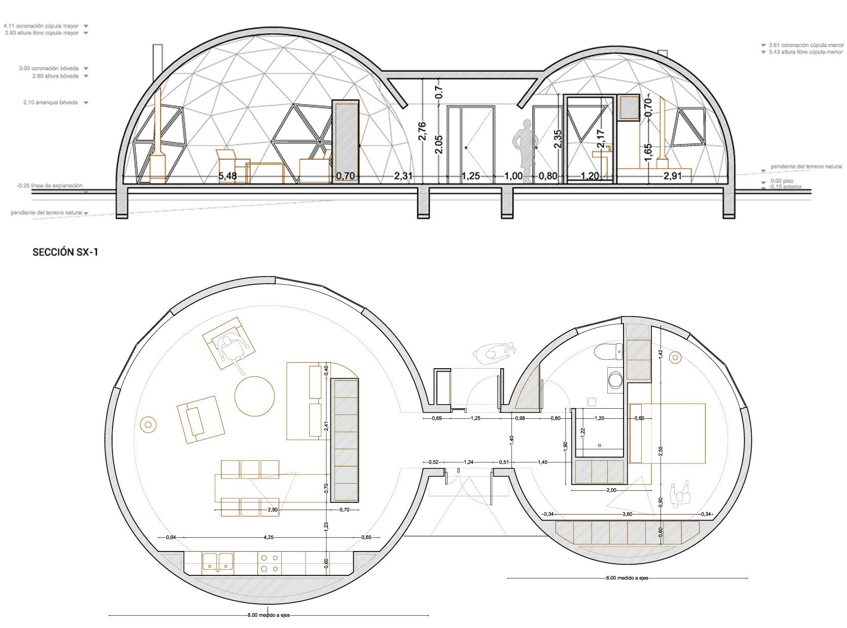 planos de casas geodesicas