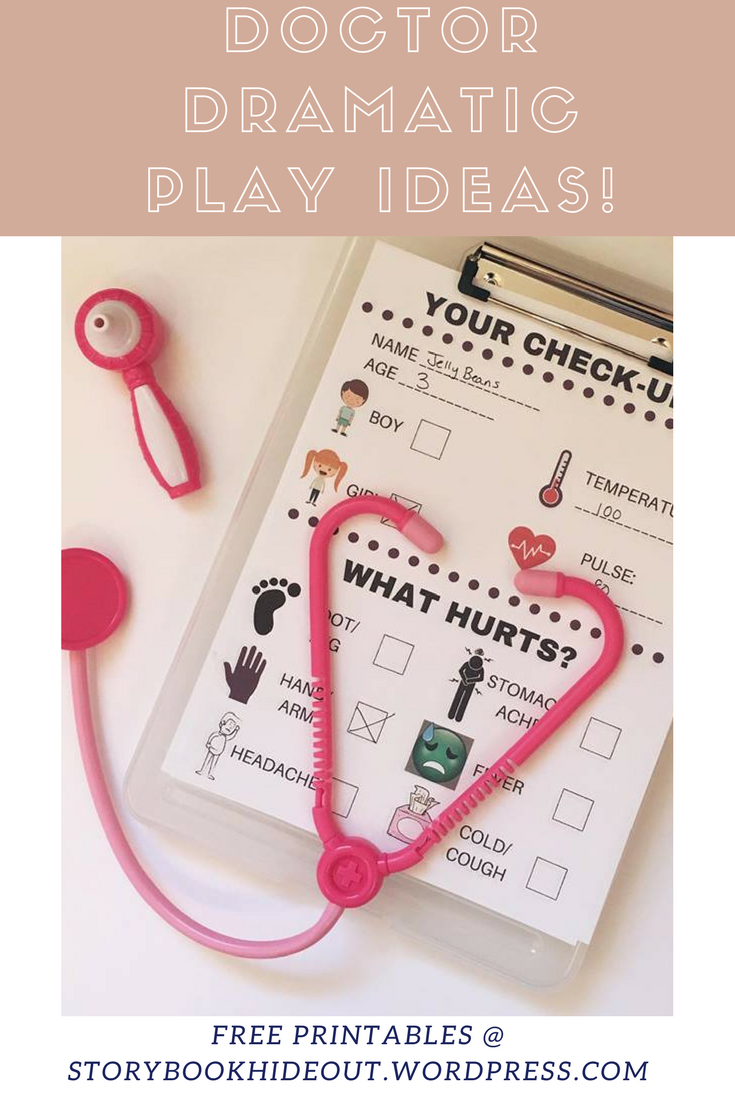 Easy and fun doctor's office space for dramatic play! Free printables included!
