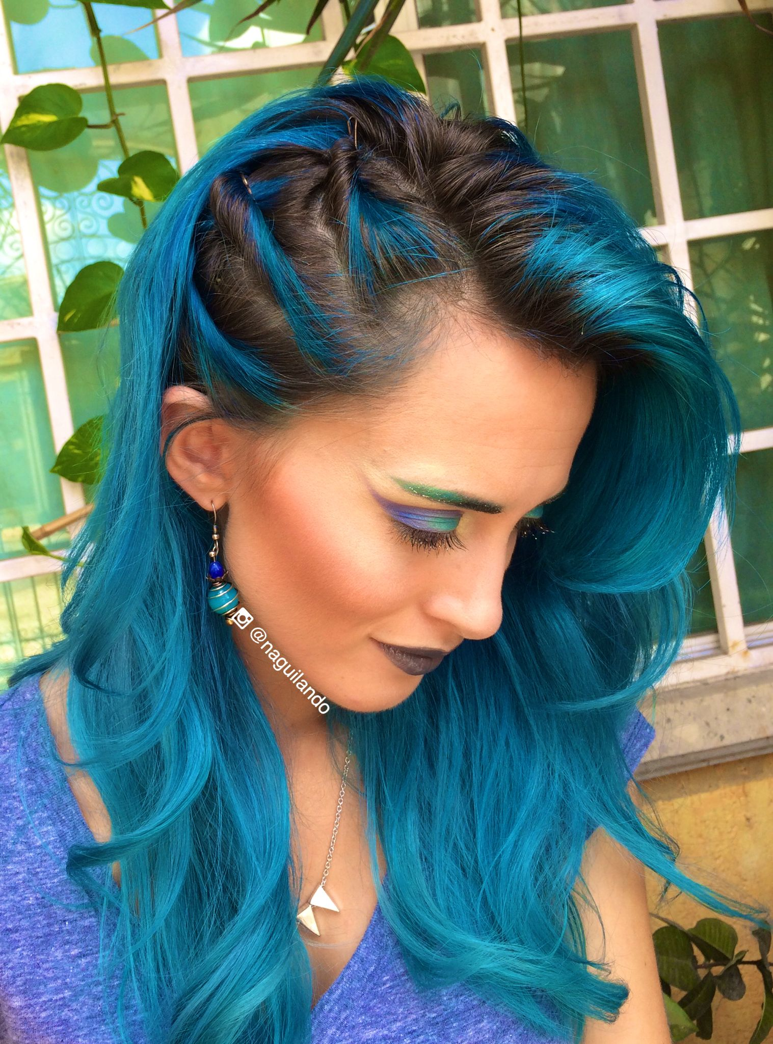 Makeup And Hair Blue Bluehair Naguilando Instagram Arctic Fox Dye In Aquamarine Lied To Prelightened Diluted With White
