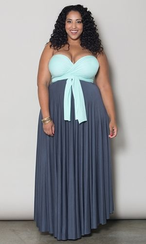 Eternity Convertible Maxi Dress (Shells Duo) $89.90 by SWAK Designs #swakdesigns #PlusSize #Curvy