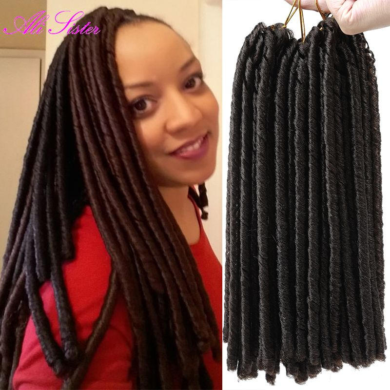 Find More Bulk Hair Information About 30roots Pack Soft Dread Faux Locs Braids Crochet Havana Twist 14 Synthetic For Beautiful Women Best