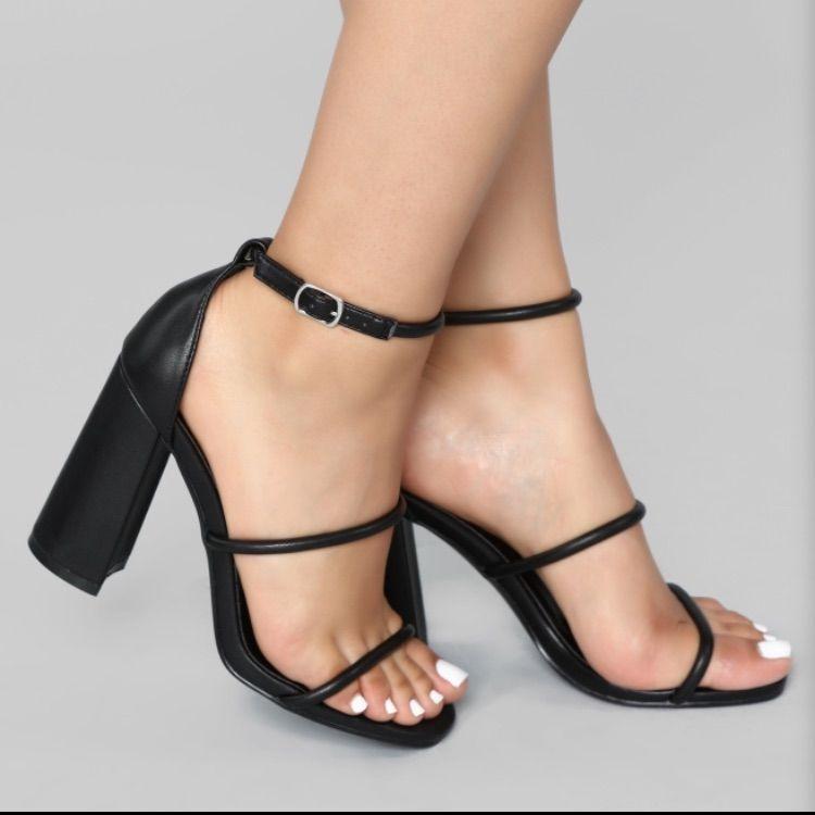 Fashion nova shoes you and i heels color black size