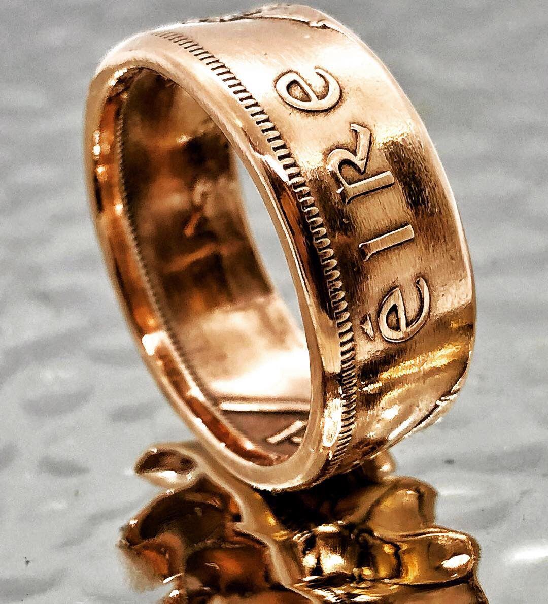 Irish Coin Ring 1 Penny Women's, Men's, mens antique
