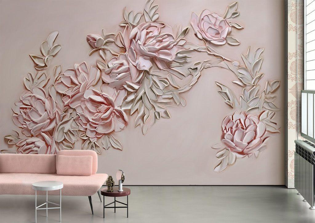 Fototapeta Na Sciane Tloczone Kwiaty 25143 Uwalls Pl Floral Wall Flower Wall Wall Wallpaper