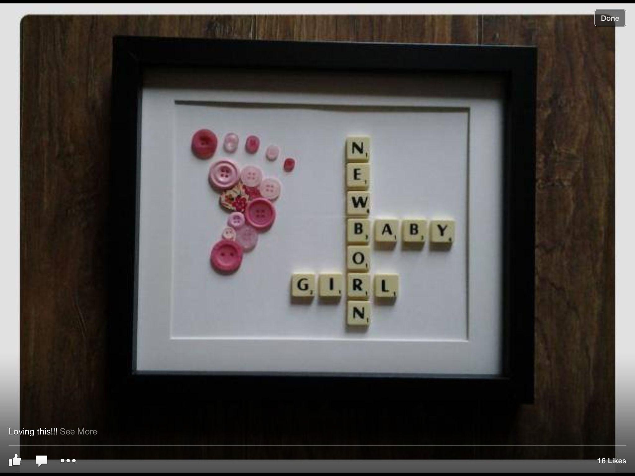 Baby pattern Scrabble crafts, Scrabble frame, Scrabble
