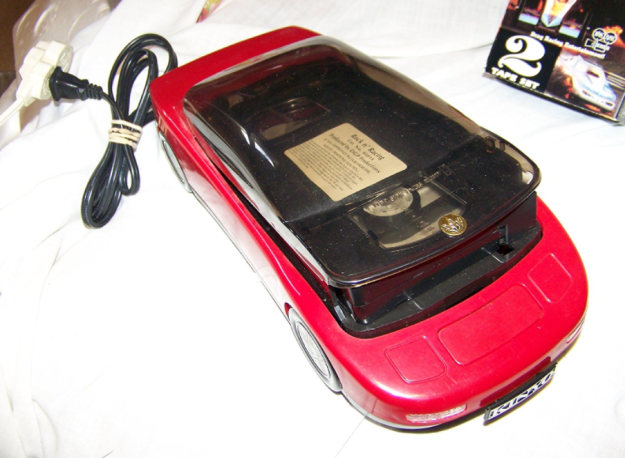 VHS rewinder for uninterrupted movie marathons once a tape was finished (bonus points if it was in the form of a sweet car). #sweetcars