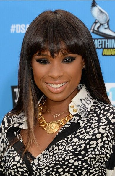 Fine Straight Hair With Bangs For Black Women Straight Hairstyle Hairstyles For Women Draintrainus