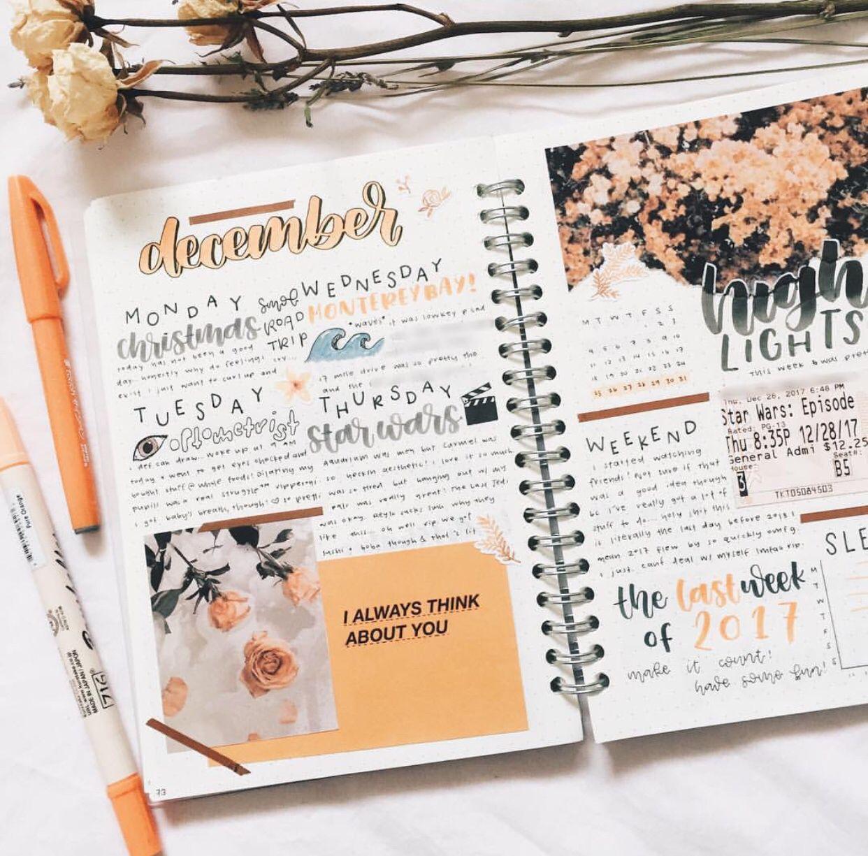 Aesthetic Bullet Journal Spreads