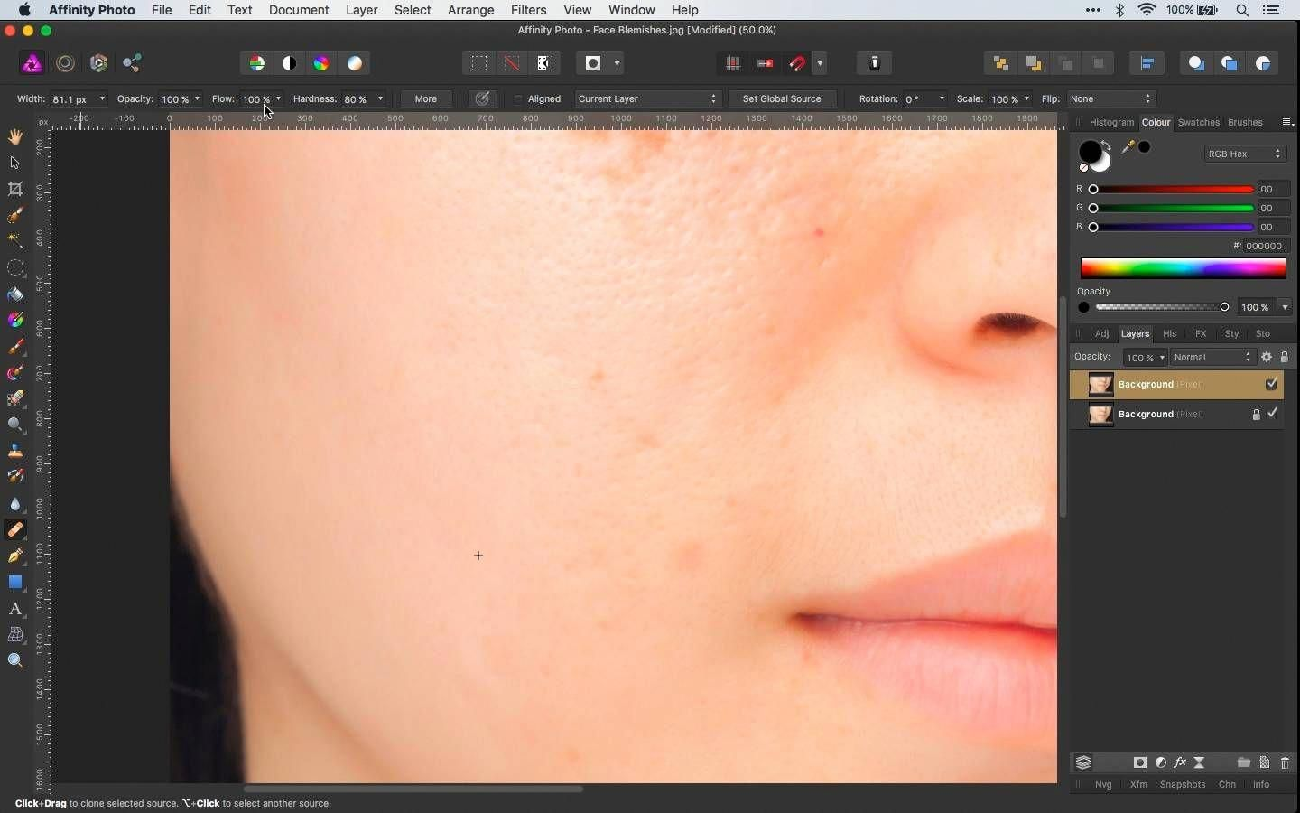 How To Remove Skin Blemishes In Affinity Photo