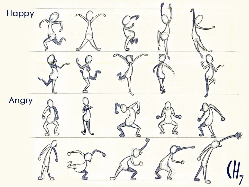 Scribble Gesture Drawing : Gesture emotions by chuunin viantart on