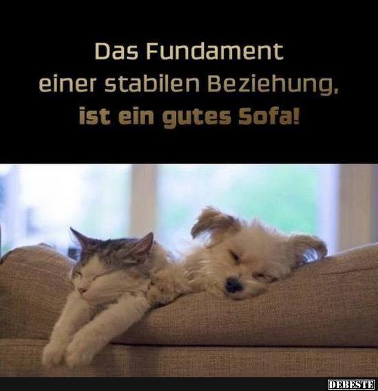 Das Fundament Einer Stabilen Beziehung Ist Ein Gutes Sofa