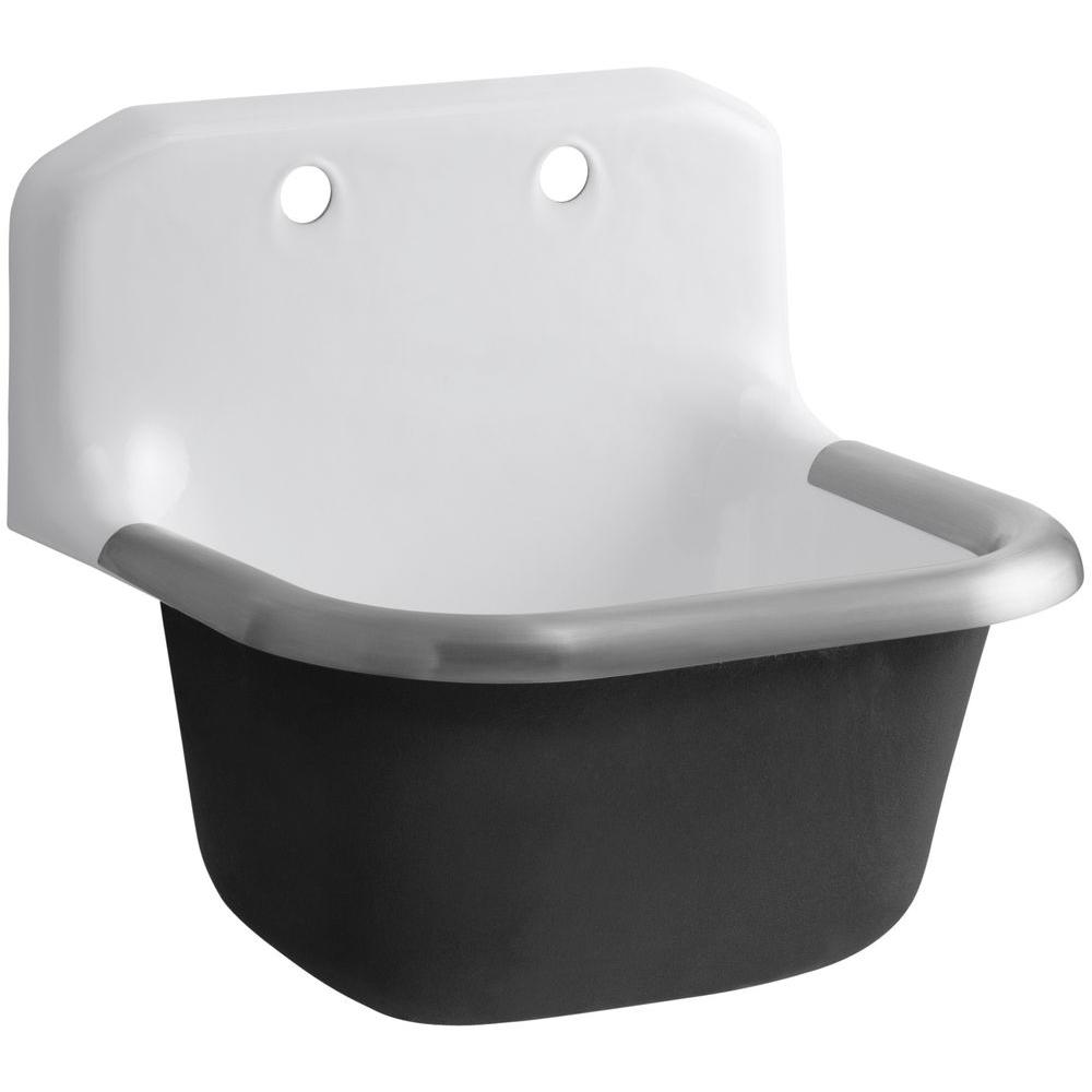 Kohler Bannon Wall Mount 24 In Cast Iron Service Utility