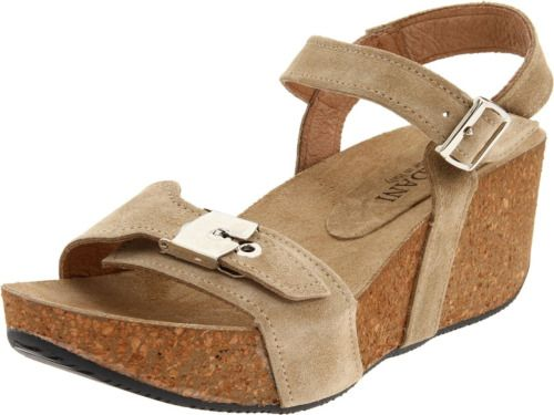 Birk style wedge shoes