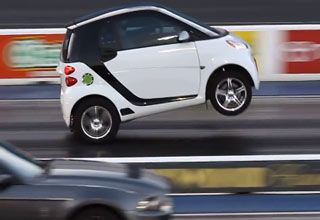 Smart Car Pops A Wheelie And Smokes Mustang Smart Car Smart Fortwo Mustang Shelby