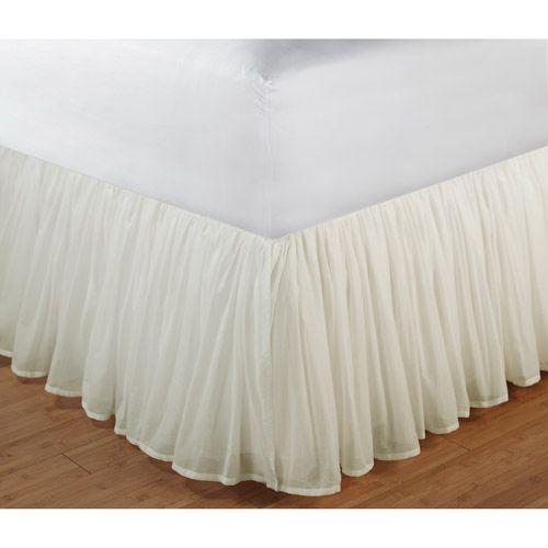 Cotton Voile Bed Skirt Bedding Walmart Com Faldones Cama