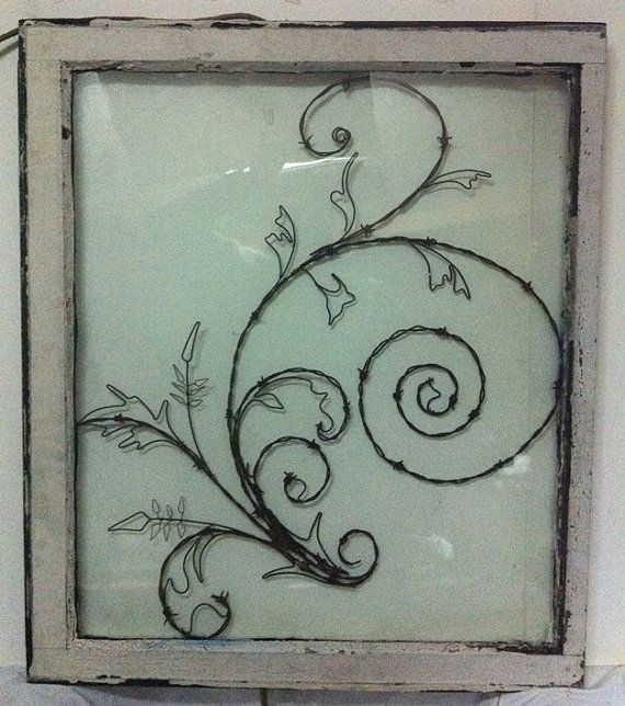 Barb wire art & Mother Nature Swirl Hand Crafted Wall by windowzofopportunity ...