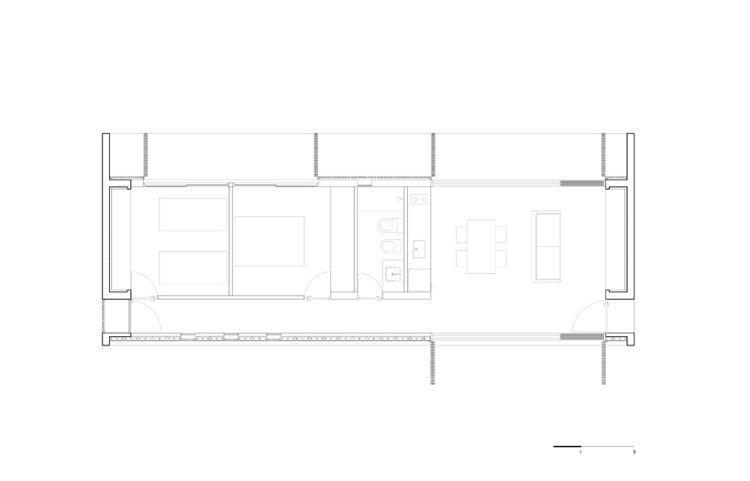 Grundriss Flachdachhaus Uruguay Wood Windows Doors Fenster Und